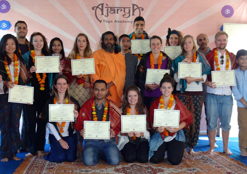 200 hour Ashtanga Yoga, Yoga Alliance TTC , from Ajarya, Rishikesh