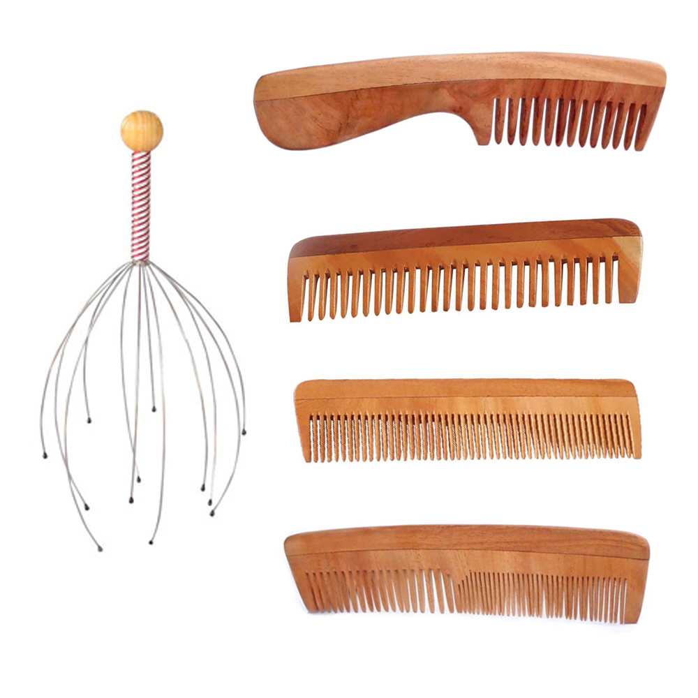 Natural Hair Care Kit - Neem Comb and Scalp Massager