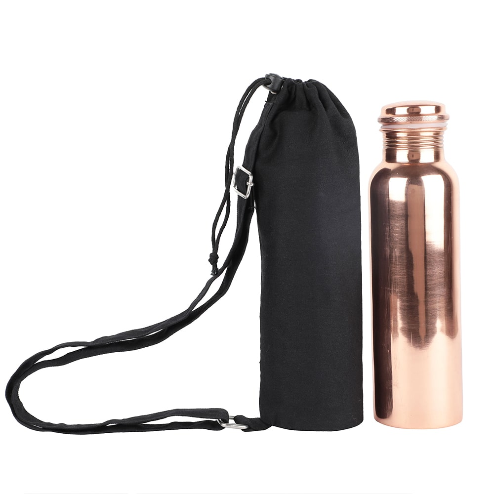 Copper Bottle with Sling Bag
