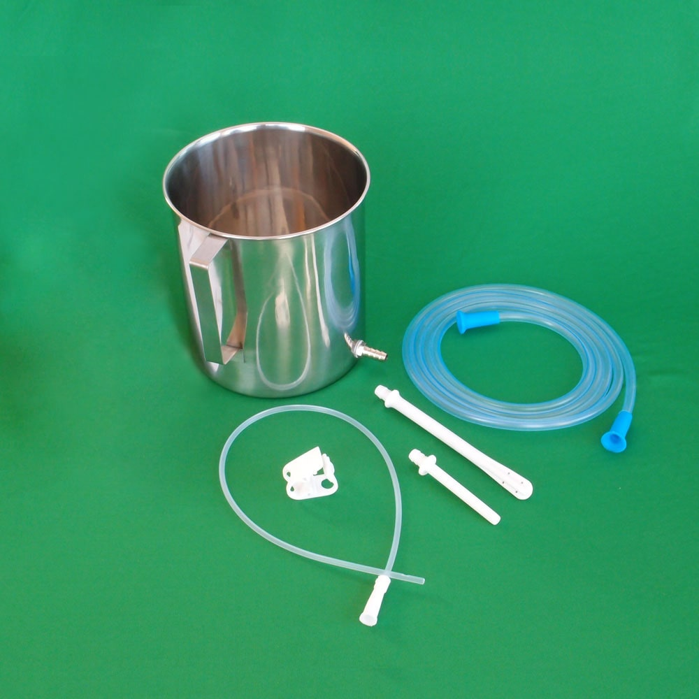 Enema Equipment + 10 Sterilized Catheter Tips