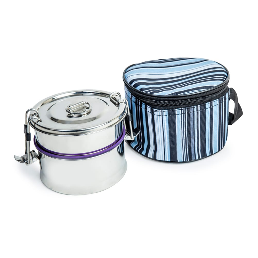 2 Leak Proof and Stainless Steel Food Carrier