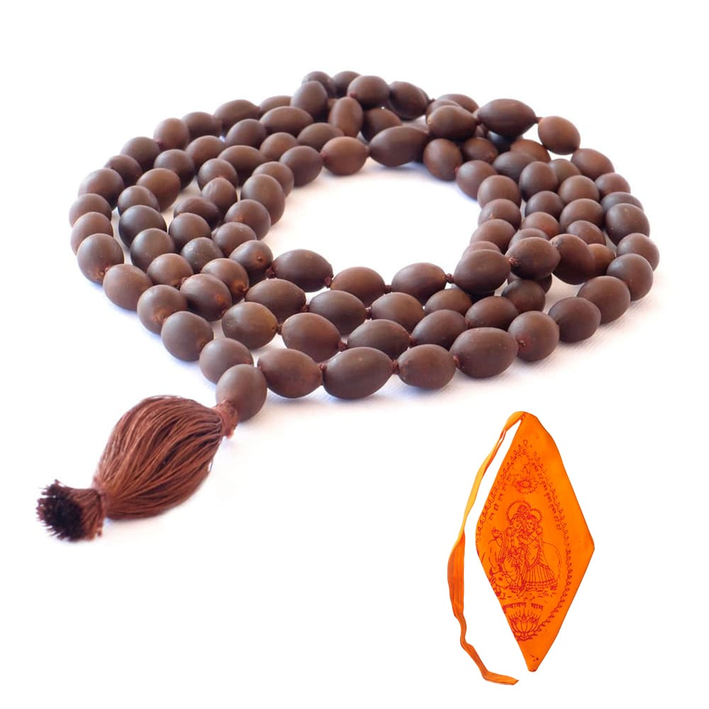 Lotus Mala With Saffron Mala Bag