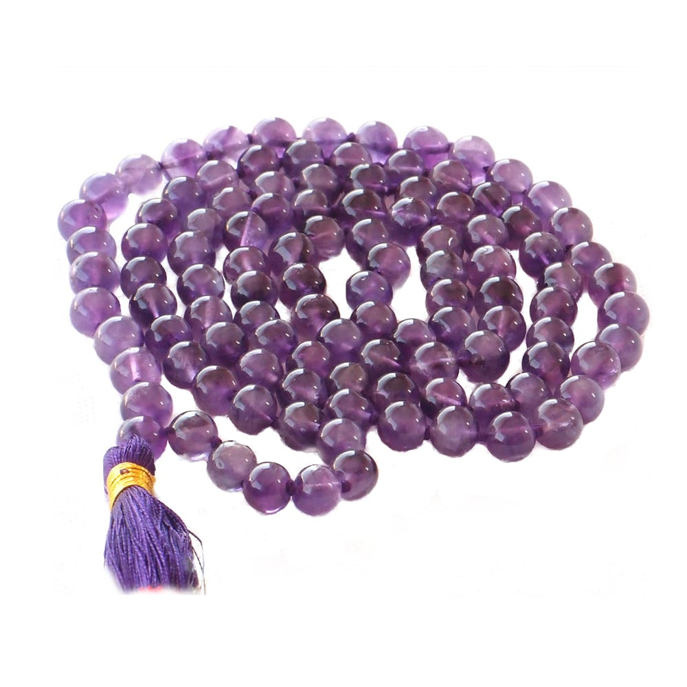 Mala Beads - Purple Amethyst