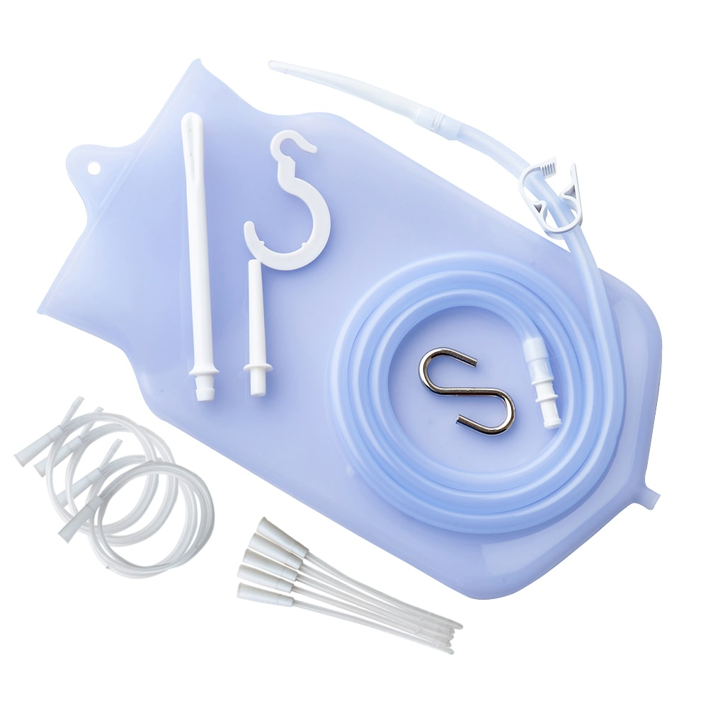 Silicone Enema Bag Kit (2 Quart) + 10 Tips