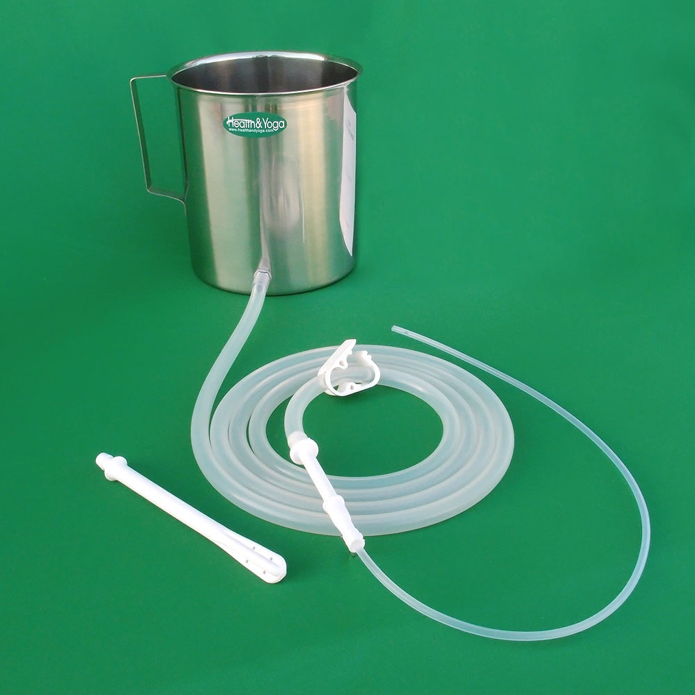 Stainless Enema Kit with Silicone Tubings