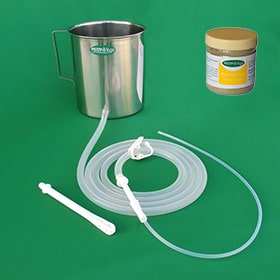 Stainless Enema Kit ( With Silicone tubings) + Neem Leaf Powder