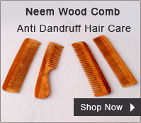 Neem Wood Comb – Anti Dandruff Hair Care