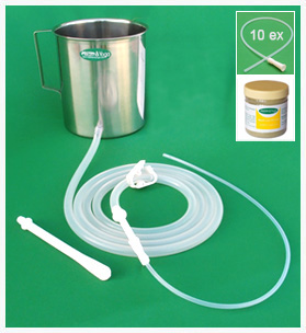 Enema Kit - Silicone tubings + Neem Powder + 10Tips