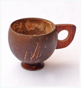 Handmade Coconut shell cups - Single