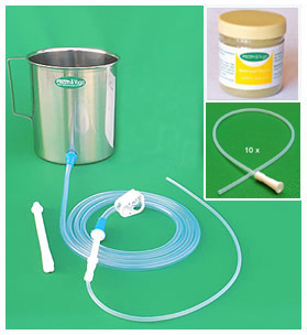 Enema Equipment + Neem Leaf Powder + 10 Tips
