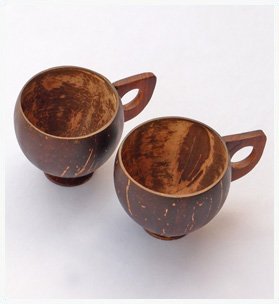 Handmade Coconut shell cups - 2-set