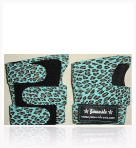 POWER WRAPS Wrist Supports - Aqua Leopard