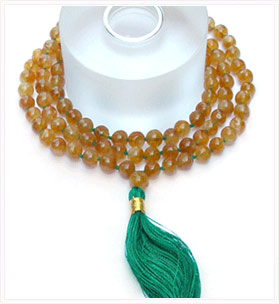 Mala Beads - Hessonite