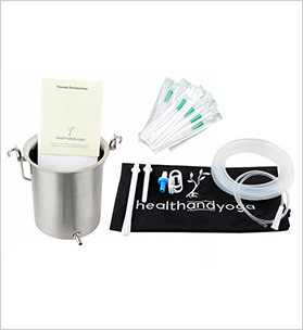 Home Enema Premium Bucket Kit + 10 Catheter Tips