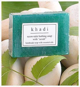 Neem Basil Soap With Inbuilt Scrub