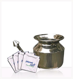 SteloKleen Neti Pot + Pure Neti Salt (25 packets)