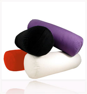 Yoga Bolster - Cotton Round -Hemp