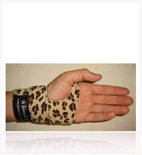 POWER WRAPS Wrist Supports - Sand Leopard