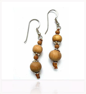 Sandalwood Earrings