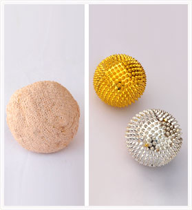 Vetiver Yoga Stress Ball + Spike Acupressure Balls