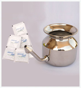 Neti Pot + 20 salt Packets